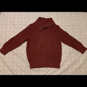 Baby Gap Maroon cowl neck sweater. 3T boys
